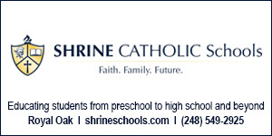 Shrine Catholic Schools, Royal Oak, Michigan. Faith. Family. Future.